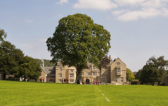 All Hallows Prep school main building in beautiful countryside