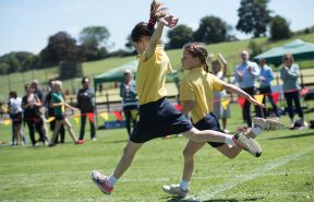 Fun at All Hallows sports day