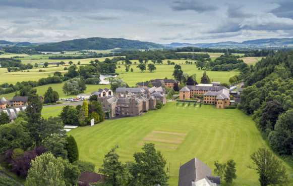 Strathallan School and grounds Ariel view