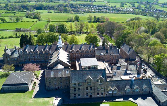 Aerial photograph of Barnard Castle School