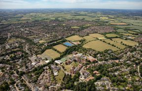 Aerial view of Bishop's Stortford College